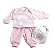 Adora Pink Layette Doll Outfit Set - 3 Pieces