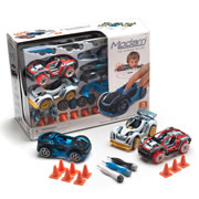 Modarri 3-Pack Vehicle Set - Street Car, Dirt Car & Track Car