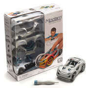 Modarri Do-It-Yourself Race Car - Silver/Grey