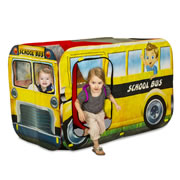 Playhut 2-in-1 School Bus/Fire Engine Interchangeable Playhouse