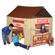 Grocery Store/Puppet Theatre Reversable Play Tent
