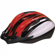 Child's Sporty Bike Safety Helmet Size Medium - (Red/Black)