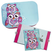 Two Owls Lap Desk & Diary Set