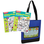 Highlights™ Party & Adventure Sticker Hidden Picture Books with Free Tote