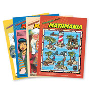 Highlights™ Mathmania Puzzle Books - Set of 4