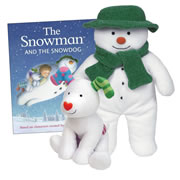 The Snowman & Snowdog Book & Plush Story Set