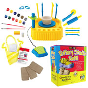 Creativity For Kids Do Art Pottery Studio & Refill Kit