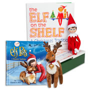 Elf on the Shelf® (Boy - Light) with Elf Pets Plush Reindeer
