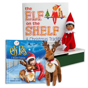 Elf on the Shelf® (Boy - Dark) with Elf Pets Plush Reindeer