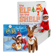 Elf on the Shelf® (Girl - Dark) with Elf Pets Plush Reindeer