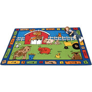 Alphabet Farm Carpet