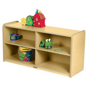 K System® Toddler Storage Unit - Natural w/Natural Trim