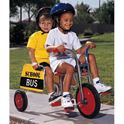 Angeles® SilverRider® Tandem Trike w/ School Bus Sign