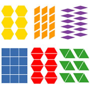 Pattern Block Multiples Die Set - Large Die (set of 6 Dies)