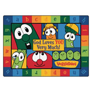 VeggieTales God Loves You Very Much Rug