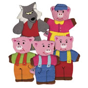 Three Little Pigs FingerTale Puppets