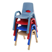 "Nature Color Chunky Stackable 11 1/2"" Chairs"