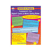 Spanish and English Comments for Report Cards and Notes Going Home
