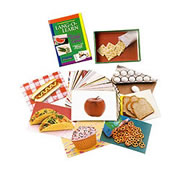 Lang-O-Learn Multilingual Photo Cards: 50 Card Foods Set
