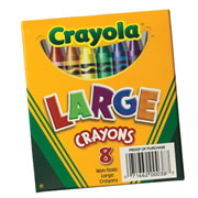 Crayola® 8-Pack Crayons - Large (Single Box)