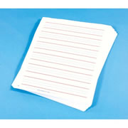 Red/Blue Lined Raised Paper
