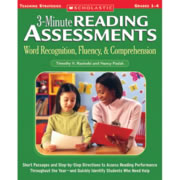 3-Minute Reading Assessments: Grades 1-4: Word Recognition, Fluency, & Comprehension