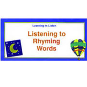 Listening To Rhyming Words (24 cards)