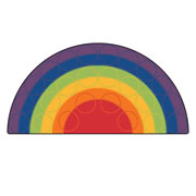 Rainbow Rows Seating Rug
