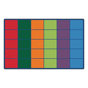 "Colorful Rows Seating - 8'4"" x 13'4"" Rectangle"