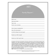 AEPS® (2nd Edition) Family Report I