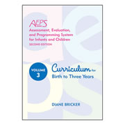 AEPS® (2nd Edition) Volume 3: Curriculum for Birth to Three Years