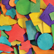 Wooden Colored Craft Shapes (400 pcs.)