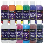 Acrylic Paint (Set of 12 - 8 oz. assorted colors)