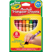 Crayola® My First Triangular Crayons (10 Boxes / 8 Count)