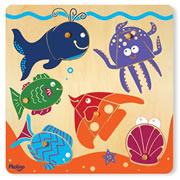 6-Piece Surprise Picture Puzzle - Sea Life