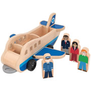 Plane and Luggage Carrier Set