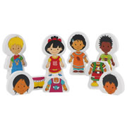 Children Around the World Magnetic Puzzles (Set of 6)