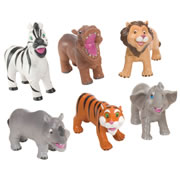 Soft and Squeezable Safari Animal Playset