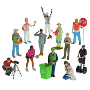 Vinyl Career Figures (Set of 12)