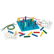 Stringing Pegs and Pegboard Classroom Set