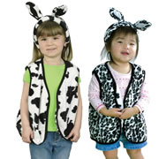 Cow & Snow Leopard Reversible Vest