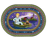 "Row Your Boat Carpet 3'10x5'4"" Oval"