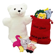 Polar Bear Puppet Set