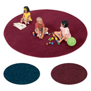 Solid Color Round Carpet - 6'
