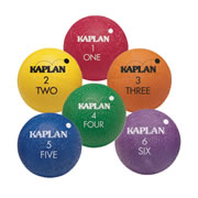 Kaplan Colored Playground Balls (set of 6)