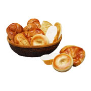 International Bread Set w/ Basket