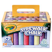 Crayola® Sidewalk Chalk (52 count, 3 of ea. color)