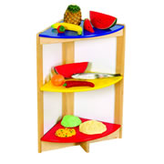 Guidecraft Bright Color Kitchen Corner Shelf