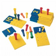 Number Puzzle Board & Pegs