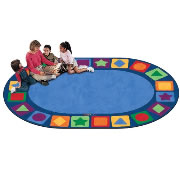 "Seating Shapes Carpet - 8'3""x 11'8"" Oval (Factory Second)"